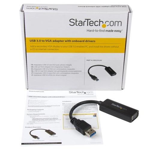 adaptador startech.com usb 3.0 a vga video para instalación