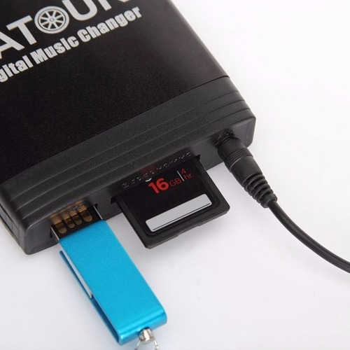 adaptador stereo original usb mp3 sd aux peugeot yatour
