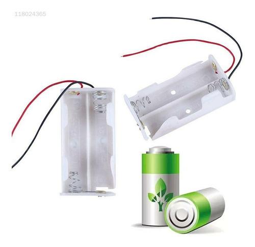 adaptador suporte 2 pilhas aa para arduino e projetos branco