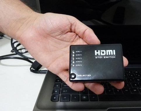 adaptador switch hdmi 5 entradas e 1 saída, pronta entrega!