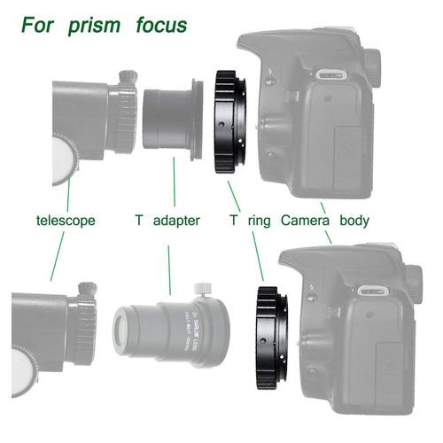 adaptador t de cámara slr nikon gosky para telescopio