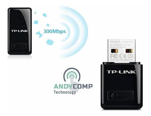 adaptador tarjeta usb wireless nano n300mbps tplink tl-wn823