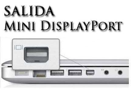 adaptador thunderbolt mini displayport a vga apple macbook