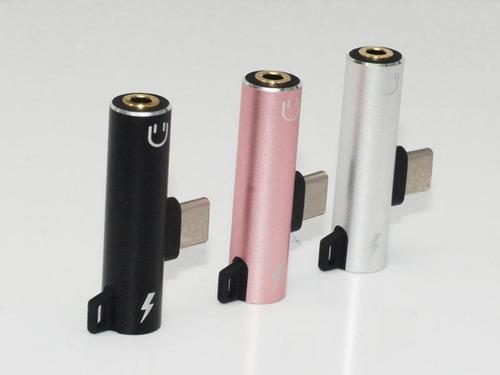 adaptador tipo-c a audio 3.5mm y carga tipo-c titan belgrano