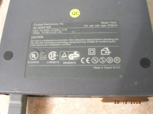 adaptador tipo ntb013 ac/dc 250v / 10 - 18v 2.6 - 1,4a