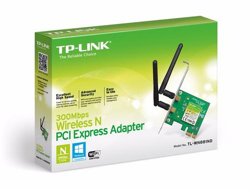 adaptador tp-link pci express inalámbrico tl-wn881nd