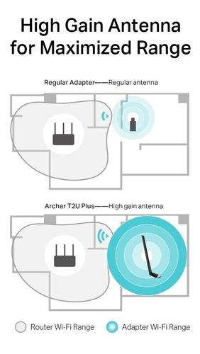 adaptador tp link wireless archer t2u plus ac600 1*5dbi