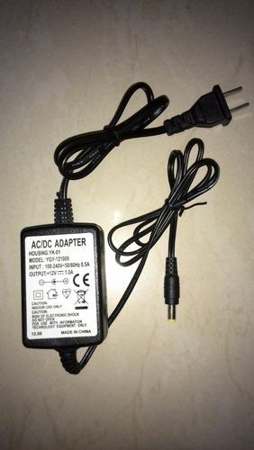 adaptador transformador ac/dc universal nuevo 12v 1.0a