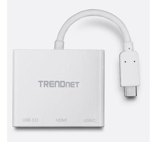 adaptador trendnet tuc-hdmi3 usb-c a hdmi /port usb 3.0 4k