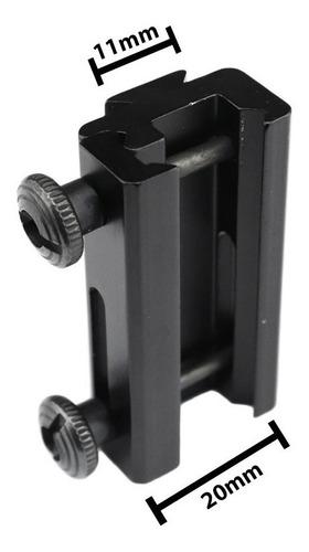 adaptador trilho 20mm 11mm conversor red dot cbc airsoft