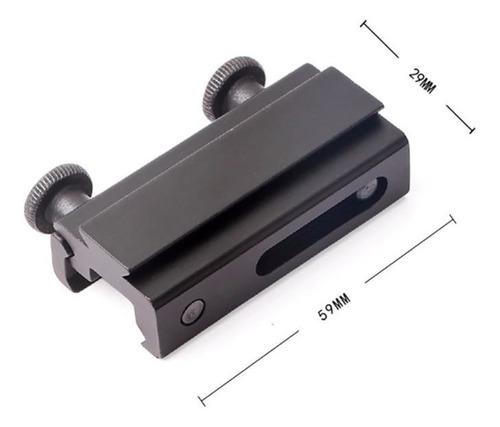 adaptador trilho 20mm e 22mm para 11mm reddot cbc airsoft