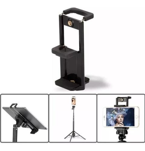 adaptador tripe p celular monope bastão iphone galaxy moto x