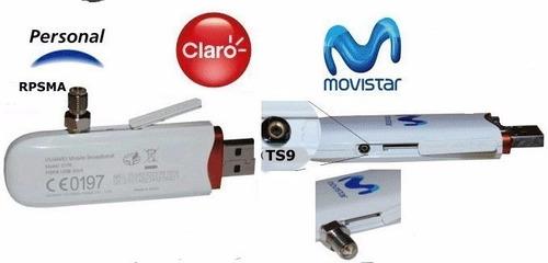 adaptador ts9 a  rp- sma female  modems 3g  4g entel bitel