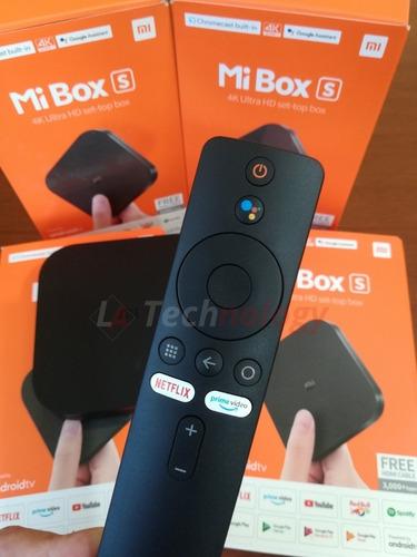 adaptador tv android xiaomi mi box s 4k-nexflix-prime video