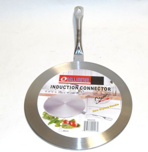 adaptador universal 23cm ollas sarten para cocinas inducción