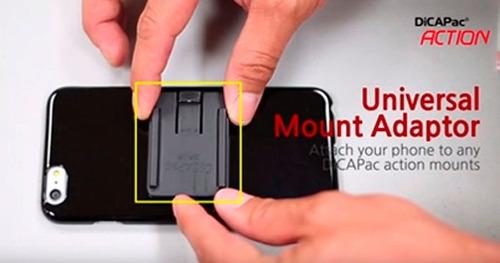 adaptador universal dicapac action para iphone y celulares