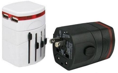 adaptador universal enchufe 2 usb viajero 110/220city-ventas