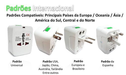 adaptador universal tomada padrão américano / europeu