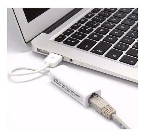 adaptador usb 2.0 a red rj45 10/100 pc notebook mac