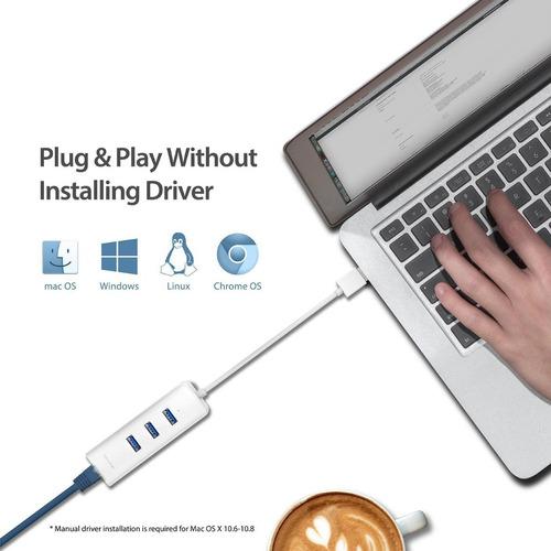 adaptador usb 3.0 a lan rj45 gigabit tp-link ue330 hub 3p