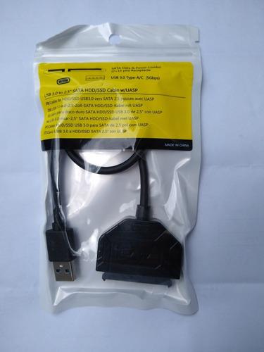 adaptador usb 3.0 a sata 7+15 pines ssd disco duro de laptop