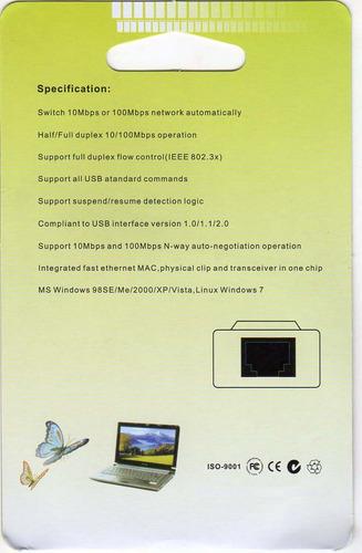 adaptador usb a rj45 de internet