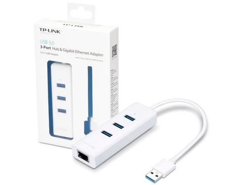 adaptador usb a rj45 ethernet giga tp-link ue330 + hub 3 usb
