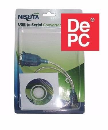 adaptador usb a serie serial converter nisuta - depc