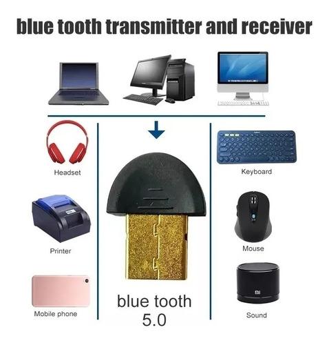 adaptador usb bluetooth v5.0 laptop computadora control ps4