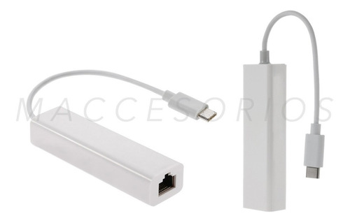 adaptador usb c 3.1 a red / ethernet lan / rj45 / mac / pc