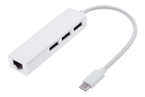 adaptador usb c 3.1 a red / ethernet / rj45 / hub usb x3