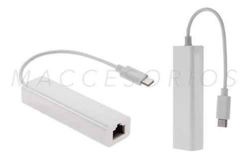 adaptador usb c 3.1 a red / ethernet / rj45 / hub usb x3