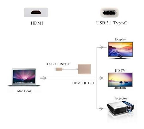 adaptador usb c a hdmi para s8 s8 + note8 y otros