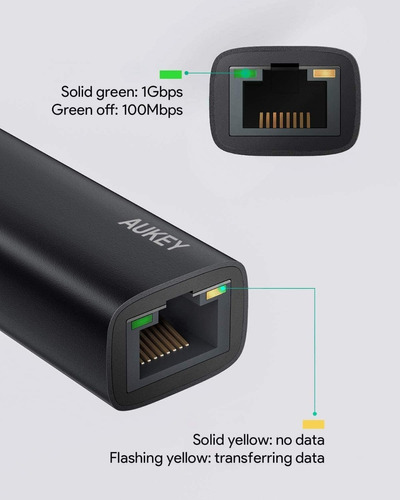 adaptador - usb-c a red gigabit ethernet - excelente calidad