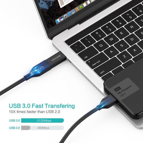 adaptador - usb-c a usb 3.0 y micro usb a usb-c - ideal mac