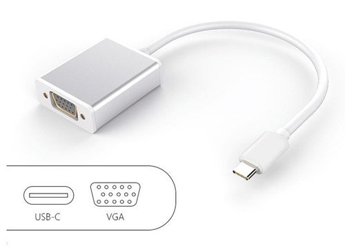 adaptador usb c a vga macbook retina 12   dell lenovo hp