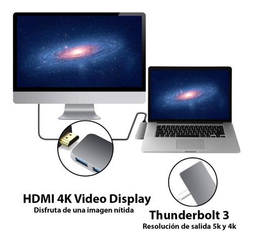 adaptador usb c hub mac macbook air pro hdmi 4k micro sd 3.0