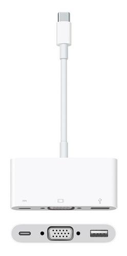 adaptador usb-c para vga apple mj1l2am/a multiportas macbook
