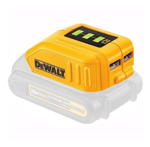 adaptador usb carregador bateria power bank dcb090 - dewalt