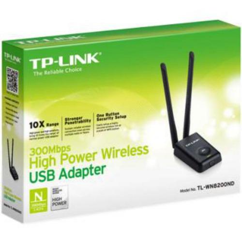 adaptador usb inalámbrico de alta potencia de 300mbps tp-lin