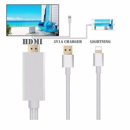 adaptador usb lightning a hdmi ipad iphone i5 5s 6 i.o.s. 10