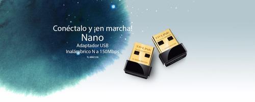 adaptador usb nano inalámbrico n 150mbps tp-link tl-wn725n