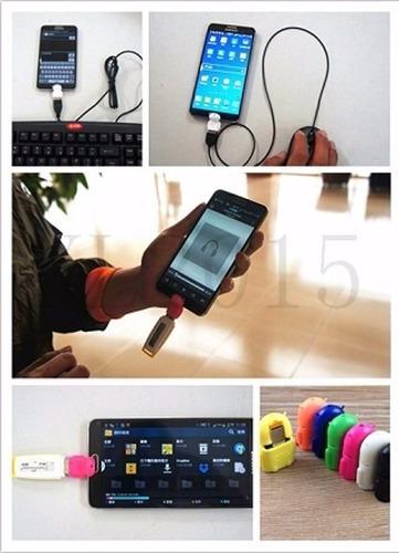 adaptador usb otg a micro android para celulares y tablets