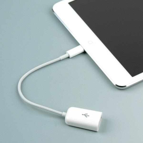 Adaptador Usb Otg Ipad Mini Iphone 5 Ipod5 Conector Ca224