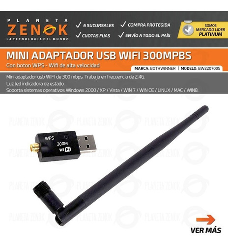 adaptador usb receptor wifi nano mini antena sma alta velocidad
