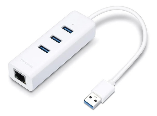 adaptador usb tp link gigabit ethernet rj45 ue330 + hub 3.0