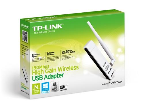 adaptador usb wi-fi tp-link tl-wn722n 150mbps 100mw