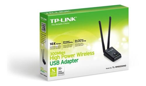 adaptador usb wifi 2 antena rompe muros tplink wn8200 =dlink