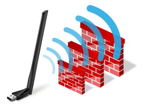 adaptador usb wifi mercusys alto alcance doble banda antena