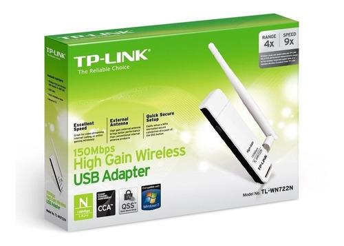 adaptador usb wifi placa de red tp link wn722n 150mbps gtia